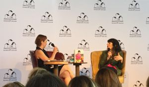 Dana Bowen, left, interviews Ruth Reichl, right, at Random House's Off the Page Event